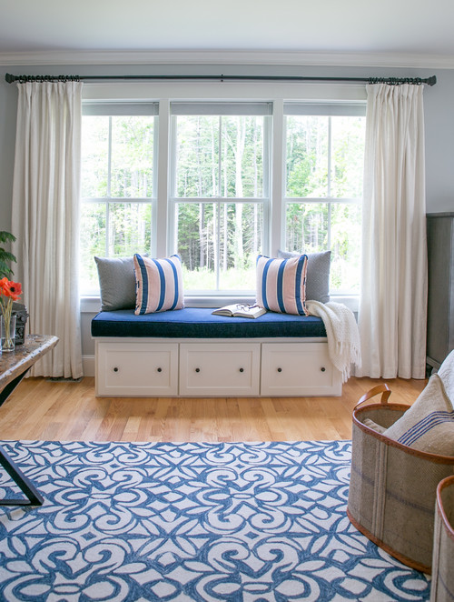 Cozy Window Seat in Master Bedroom Office Suite