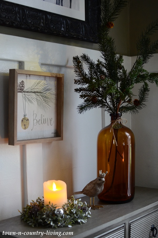 Country Style Christmas Vignette