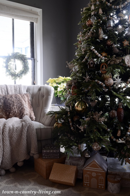 Rustic Christmas Tree in Country Home