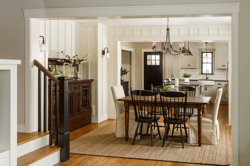 Open Concept Living - Modern Farmhouse Dining Room and Kitchen
