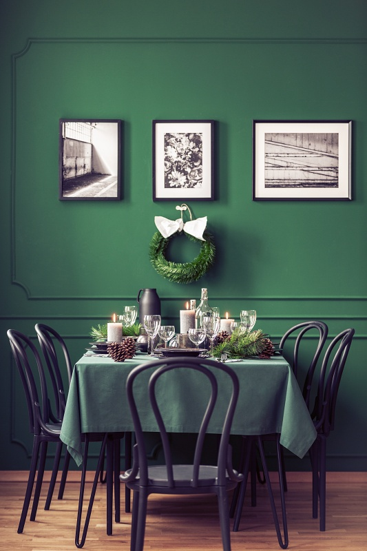 Small Green Dining Room