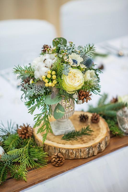 Pastel Floral Christmas Centerpiece