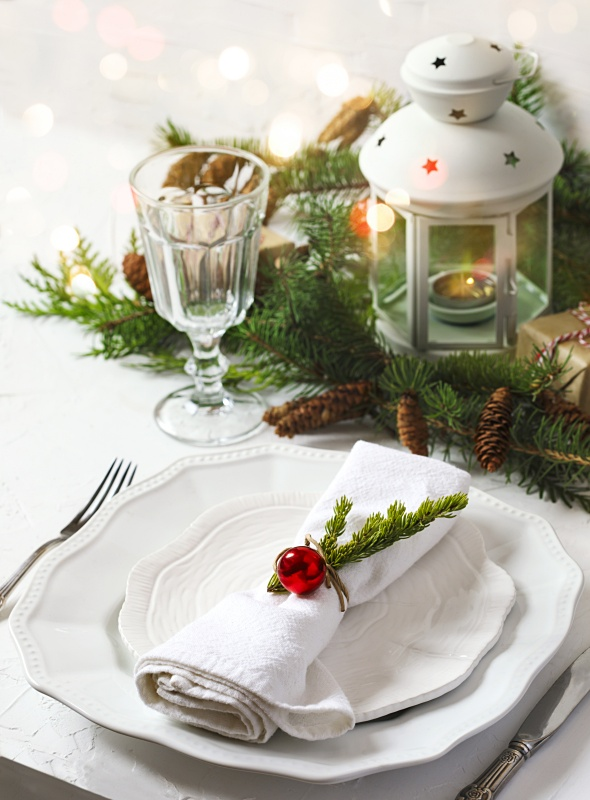 Natural Table Setting for the Holidays
