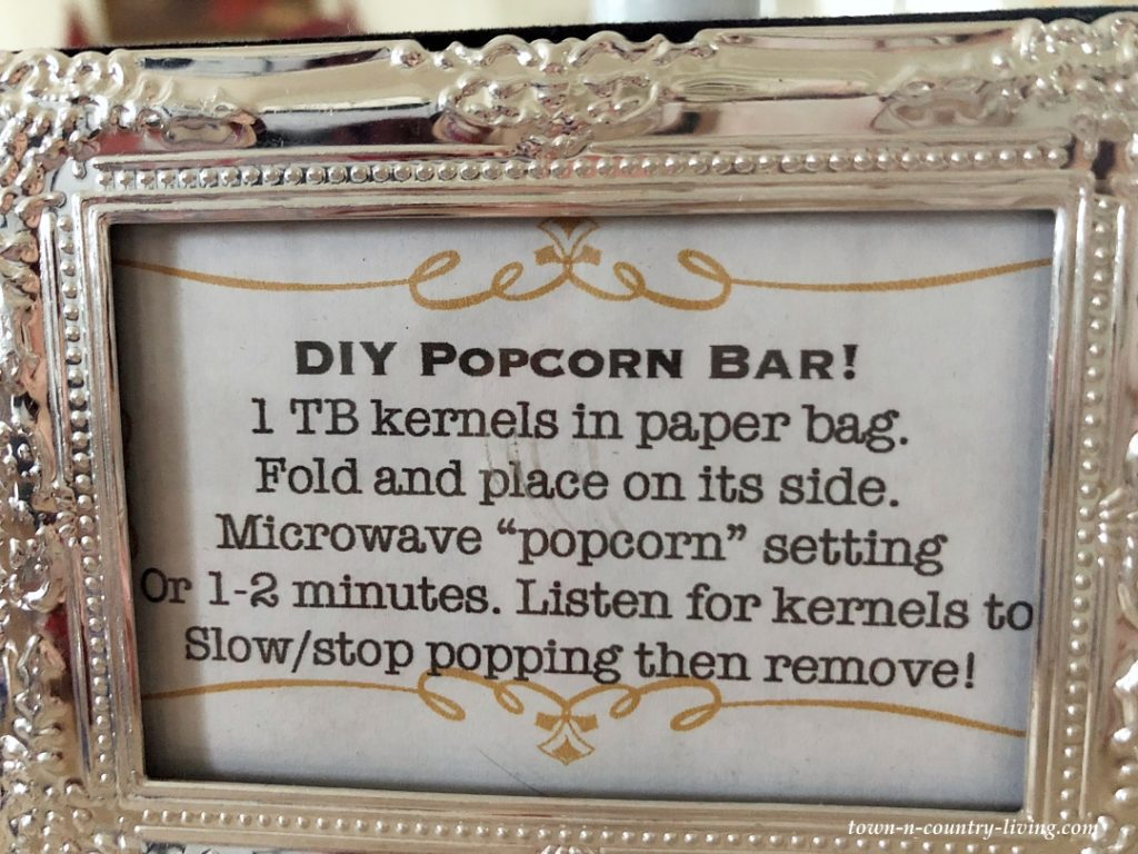 Popcorn Instructions
