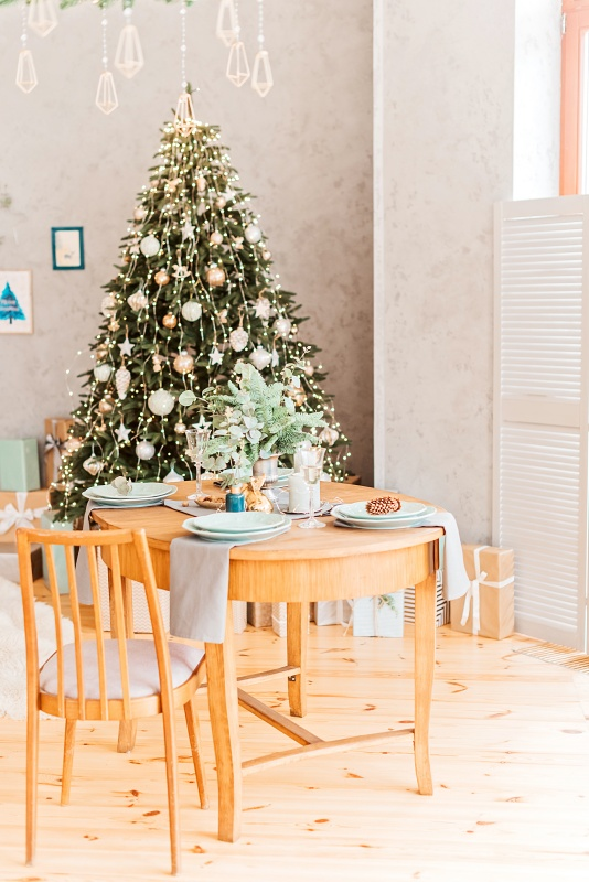 Scandinavian Style Christmas Dining Room