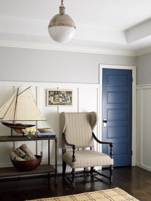 Interior Door Painted Classic Blue - Historic Home