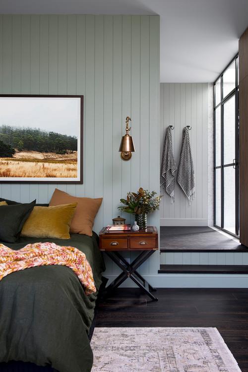 Scandinavian Style Bedroom in Earth Tones