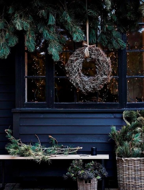 Natural Evergreens for Christmas Decor