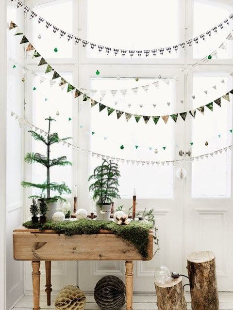 Green and White Christmas Decorations