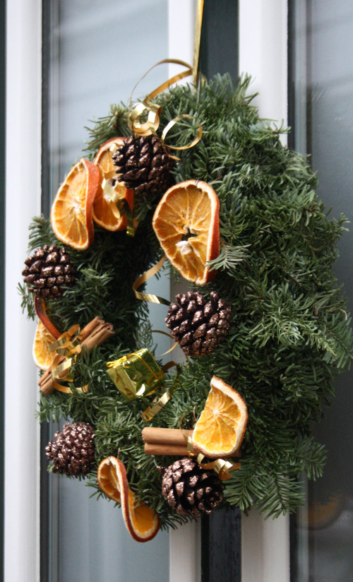 Dried Orange Slices on Christmas Wreath
