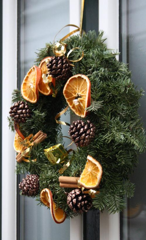 Dried Orange Slices on Christmas Wreath