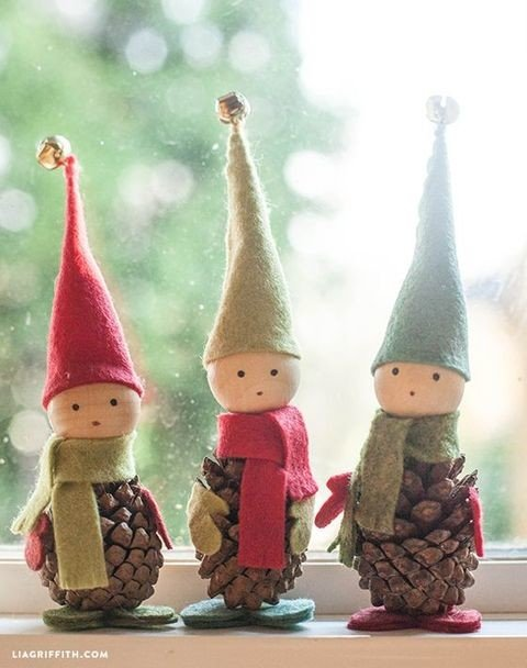 Handmade Felted Christmas Elves