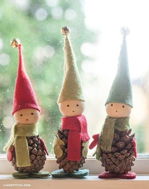 Handmade Felted Christmas Elves