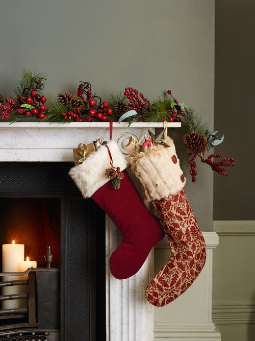 Christmas Stockings on the Mantel