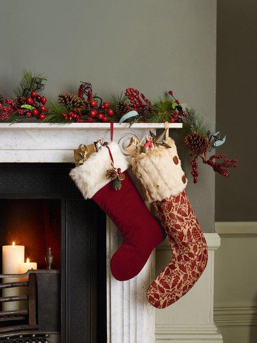 Christmas Stockings on the Mantel
