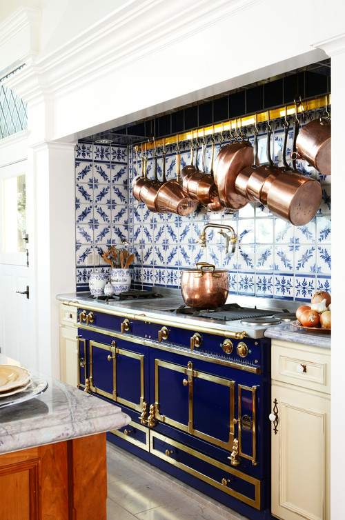 A Custom Kitchen With Delft Blue Influences Town Country Living
