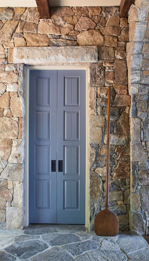 Little Blue Door on Stone House