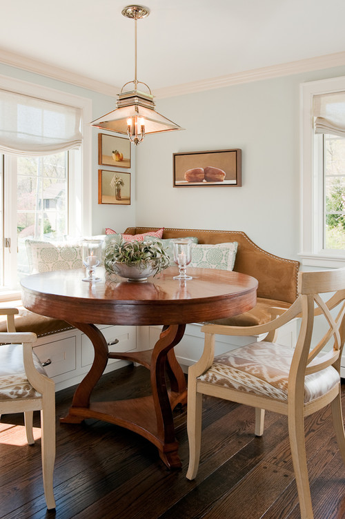 Round Table in a Breakfast Nook