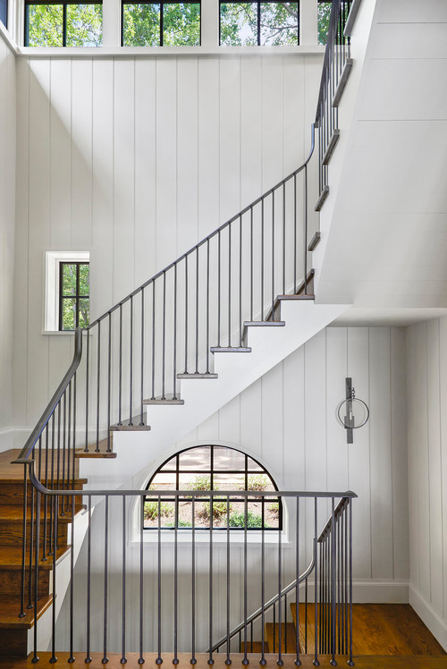 Multi-Level Staircase in Lakeside Estate