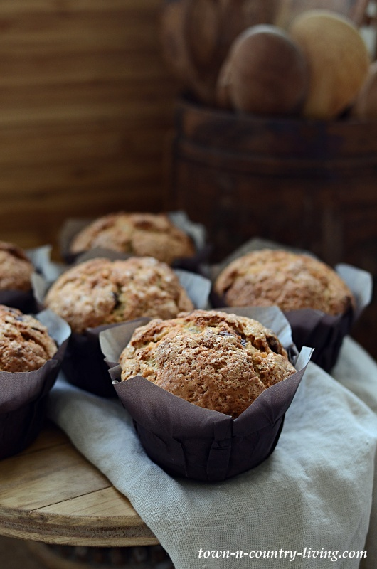 Banana Nut Muffins for Breakfast - with Chocolate Chips!
