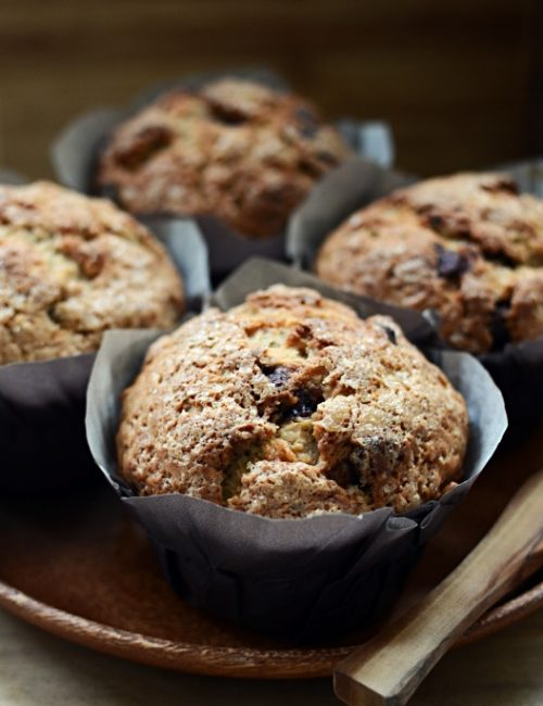 Banana Nut Muffins with Chocolate Chips
