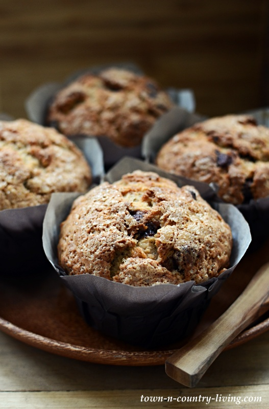 Best Banana Nut Muffins With Chocolate Chips Town Country Living