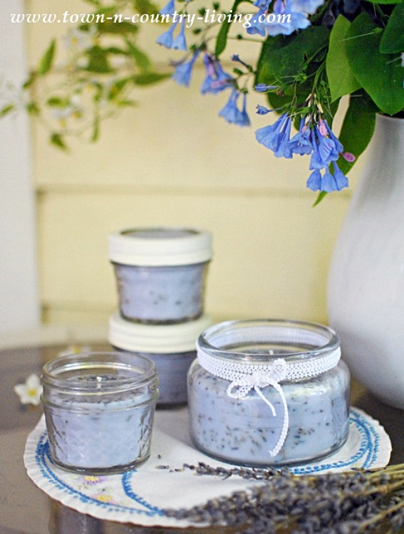 DIY Lavender Candles