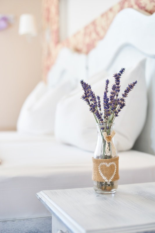 Small Bouquet of Lavender in Bedroom