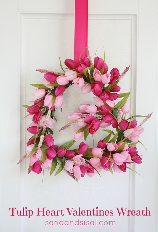 Tulip Heart Wreath by Sand and Sisal