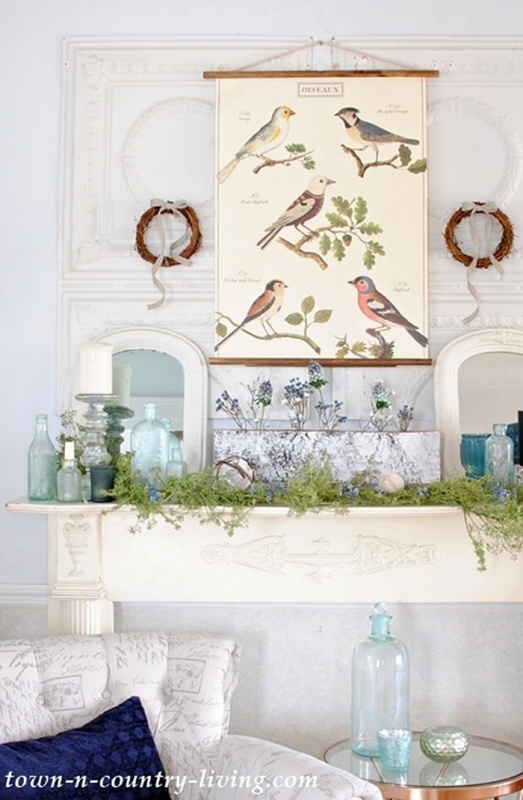 Winter Mantel with a Touch of Nature
