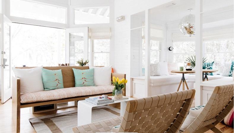 Open Concept Coastal Living Room
