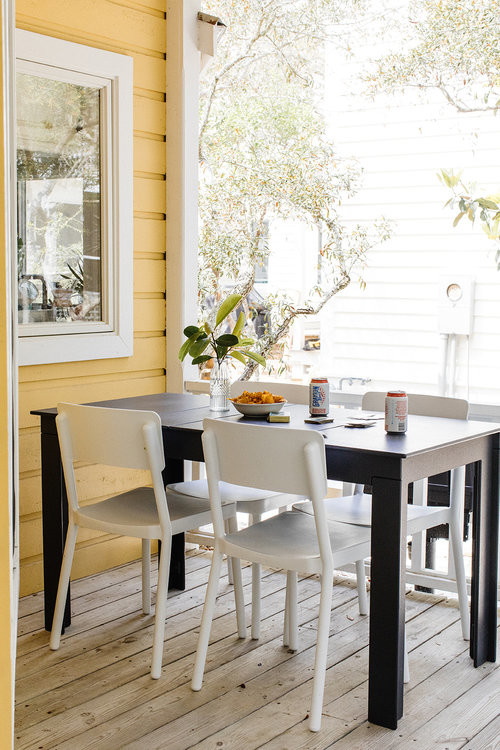 Beach Style Cottage with Outdoor Dining on the Porch