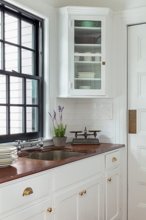 Classic Historic Kitchen in Wood and White