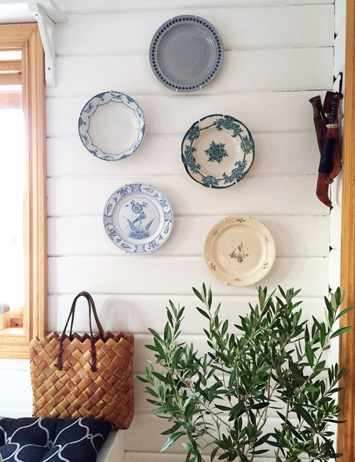 Wall Decor of Blue and White Plates