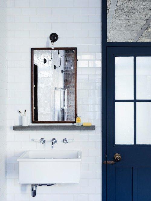 Coolest Bathroom in Industrial Loft