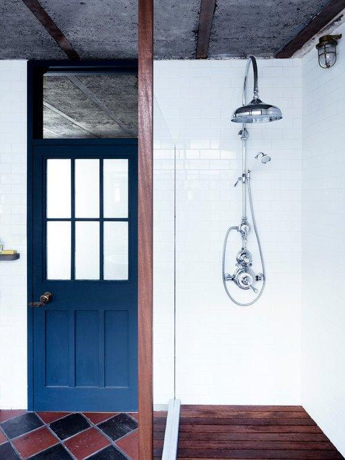 Open Walk-In Shower in Loft Bathroom