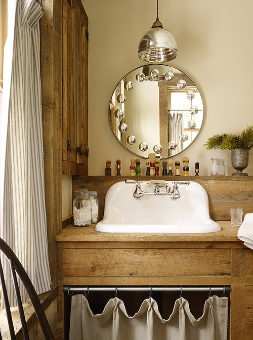 Rustic Country Bathroom with Vintage Sink