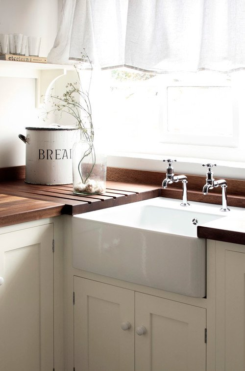 White and Wood Country Kitchen