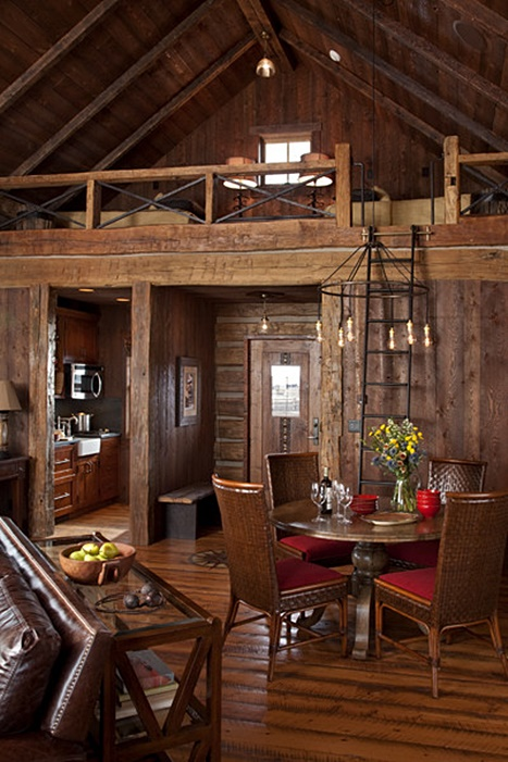 Sleeping Loft in Rustic Mountain Cabin