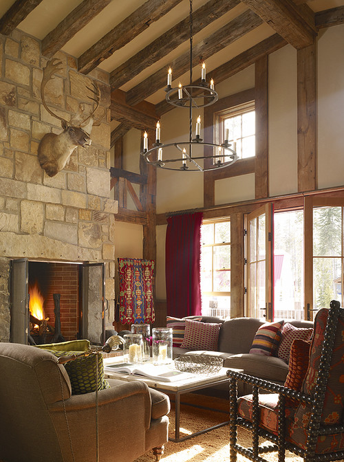 Ski Barn with Large Living Room and Stone Fireplace