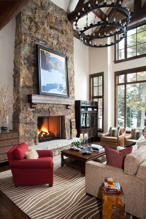 Rustic Mountain Home Living Room