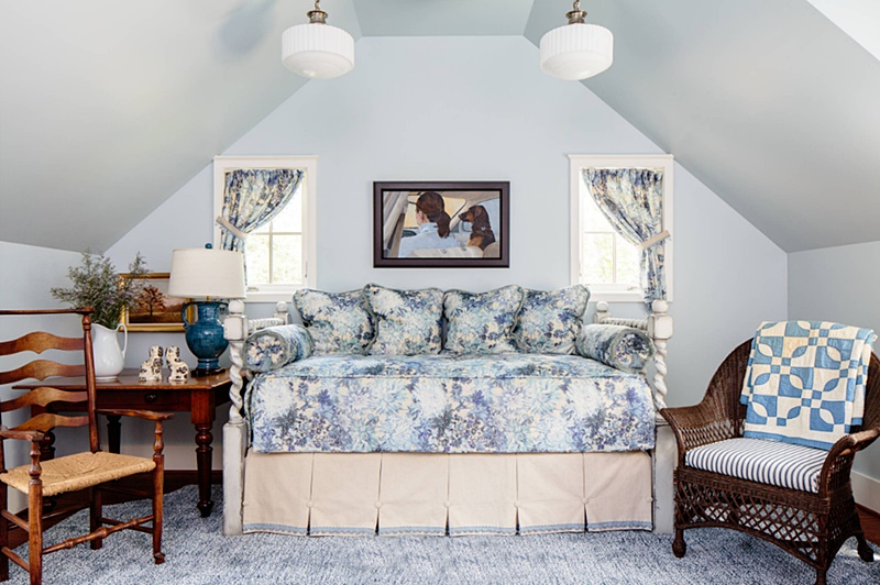 Light Blue Bedroom with Day Bed