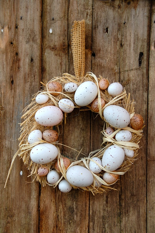 Neutral Easter Egg Wreath