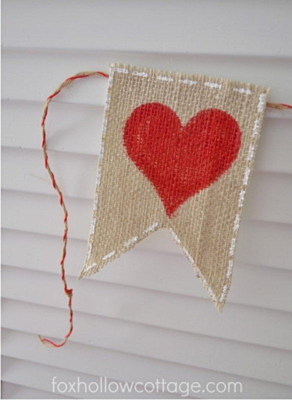 Valetine Banner by Fox Hollow Cottage