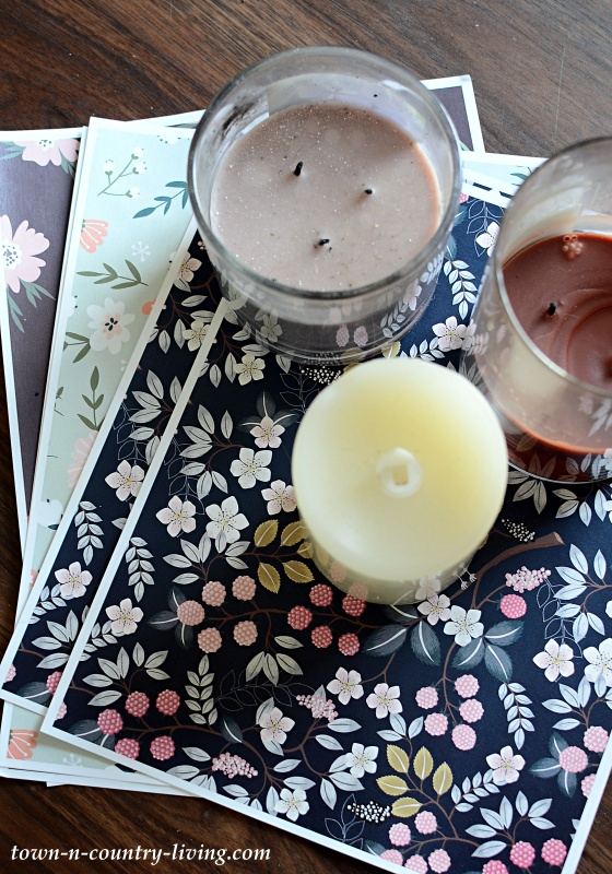 Spring Prints to Wrap Candles
