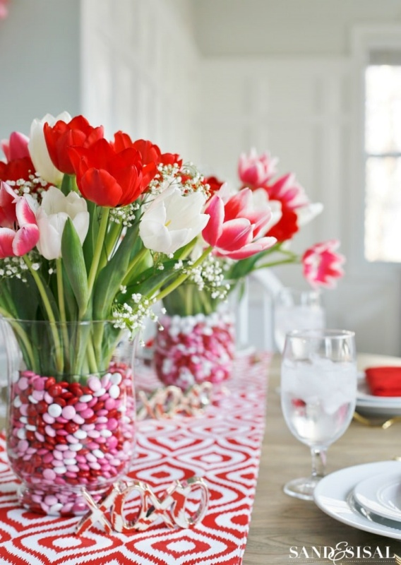Valentine's Day Table by Sand and Sisal