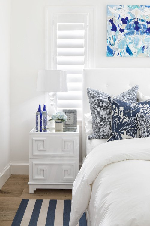 Blue and White Beach Style Bedroom