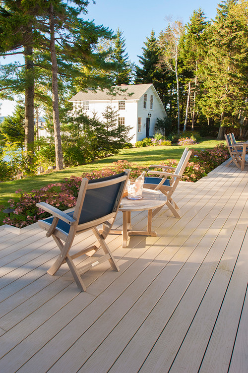 Outdoor Deck with Waterfront View in Maine