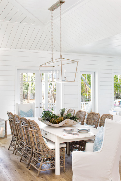 Beach Style Cottage Dining Room
