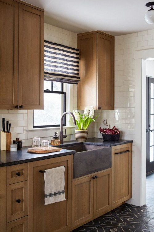 Wood Cabinets in Contemporary Kitchen